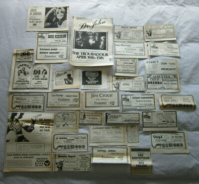 Approx 148 Music Concert Album American Newspaper Adverts Cuttings Clippings • 99.99£