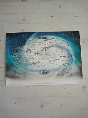 Kate Bush '50 Words For Snow' Poster From Pop-Up-Shop/Used/Rare And Collectable • 30£