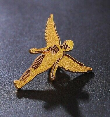 NIRVANA IN UTERO BADGE Gold In Utero Angel Badges • 1.04£
