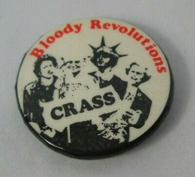 Crass Bloody Revolutions Vintage Early 1980s Badge Pin Button Anarcho Punk  • 22£