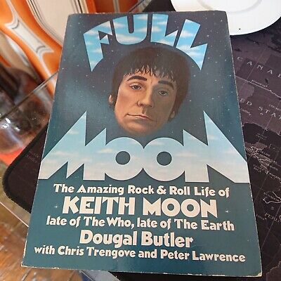 Full Moon Paperback Book Keith Moon The Who Rock Drummer 1981 • 34.99£