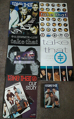 Take That Collection 4x Tour Concert Programmes, Ticket, Poster, Organiser, Book • 7.99£