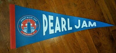 Pearl Jam Wrigley Field Pennant Chicago Cubs 2018 Concert Tour NEW • 15.87£