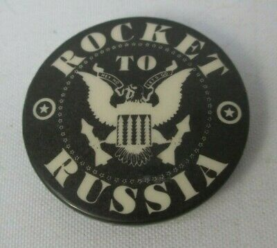 The Ramones Vintage Circa 1977 Rocket To Russia Pin Button Badge Punk New Wave • 11.50£