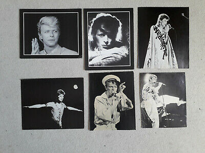 Bowie Photo Cards Ziggy 1978 X6 • 12£