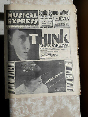 Bowie Nme 1966 Musicpaper Photo Rare • 49.99£
