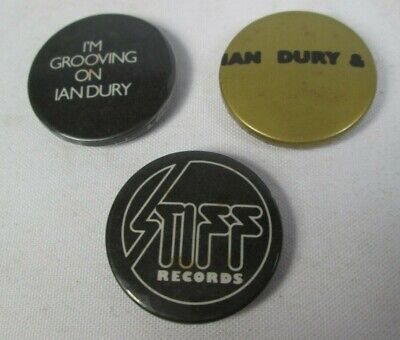 Ian Dury Stiff Records 3 X Vintage 1970s 25mm Badges Pins Buttons Punk New Wave • 9.99£