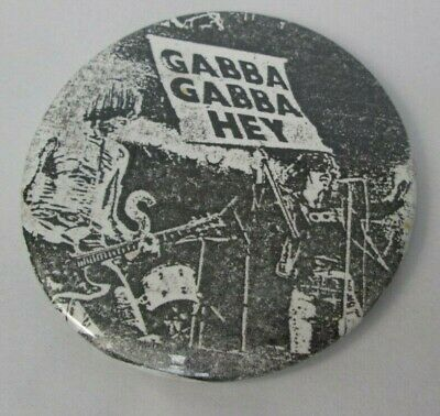 The Ramones Vintage 1970s Gabba Gabba Hey 55mm Pin Button Badge Punk New Wave • 9.99£
