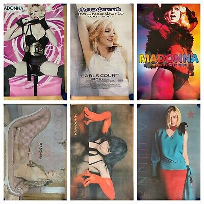 6 Madonna Tour Posters Invention Drowned Sticky • 22£