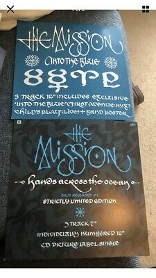 "The Mission 2 X Record Shop Promo Art Cards 12"" • 5£"
