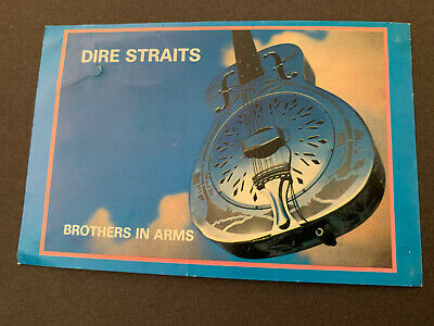 Dire Straits Brothers In Arms Postcard- Ok Condition,Stuck On Wall With Blu Tak! • 1£