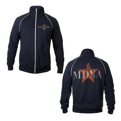 Madonna - Mdna Tour Navy Fleece Zip Track Jersey Jacket Official 2012 New Small • 49£