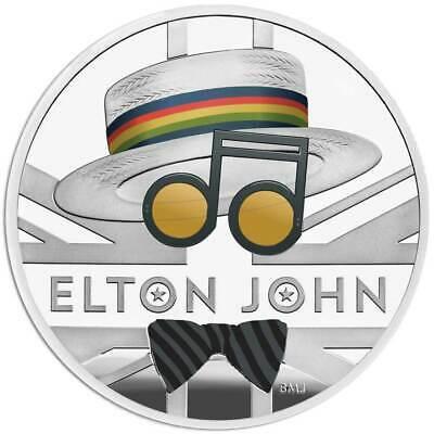 ELTON JOHN 2020 UK One Ounce Silver Proof Coin • 115£