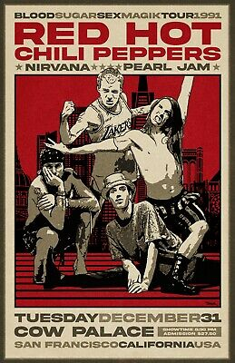 Red Hot Chili Peppers 1991 Concert Poster  • 18.52£