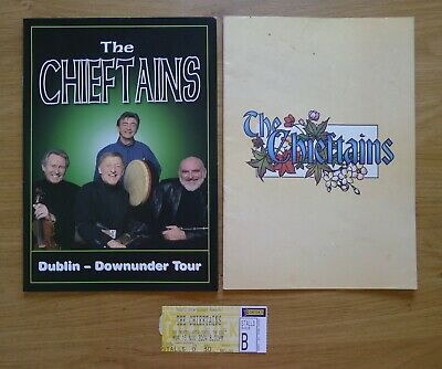 The Chieftains Tour Programmes (Signed) X 2 Plus Ticket Stub  • 17£