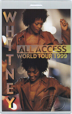 WHITNEY HOUSTON 1999 World Tour Laminated Backstage Pass • 38.61£
