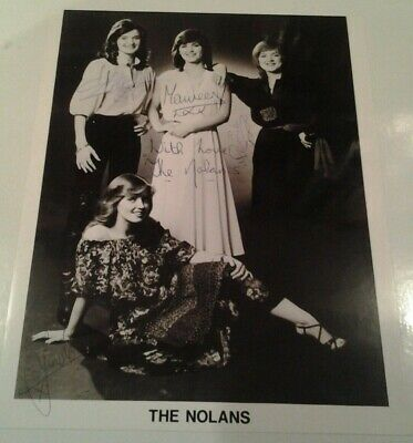 THE NOLANS X 4 Signed Photo  WITH LOVE THE NOLANS • 49.99£
