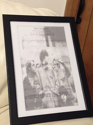Framed Music Print Stone Roses Sally Cinnamon • 9.50£
