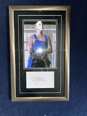 Eminem / Slim Shady - Chainsaw Photo - With Signed Signature Autograph - Framed • 595£