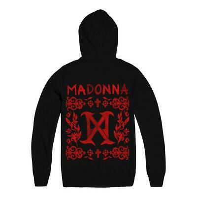 MADONNA - MADAME X TOUR Black MX LOGO PULLOVER HOODIE OFFICIAL US ONLY NEW • 65£