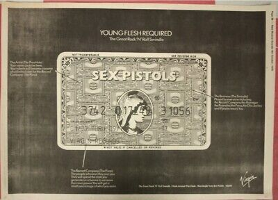 SEX PISTOLS Great Rock N Roll Swindle Very Rare Original Advert/poster 1979 NME • 150£