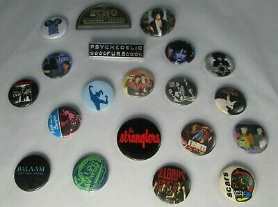 The Cure Stranglers Siouxsie Etc 20X Vintage 1980s Badges Pin Buttons Punk Goth • 9.99£