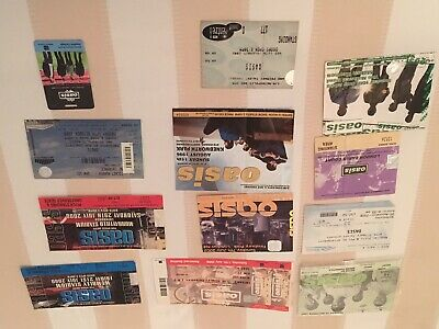 15 Rare Oasis Tickets  Plus 24 Year Old Knebworth Poster & Programme Liam • 600£