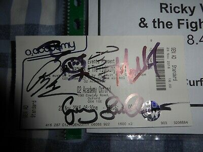 Ricky Warwick And The Fighting Hearts Signed Picks + Itinerary Black Star Riders • 25£