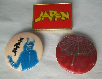 Japan 3 X Vintage 1980s Post Punk New Wave Synth Badges Buttons Pins   • 9.99£
