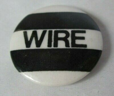 Wire Vintage Early 1980s US 25mm Badge Pin Button Post Punk New Wave • 9.99£