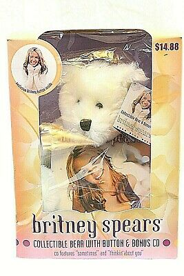 BRITNEY SPEARS Official Teddy Bear CD Button Pin Bonus 2000 Vintage Collectible • 31.20£