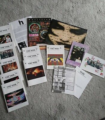 Marillion Fanclub Items, Christmas Cards And Concert Programme.  • 5£