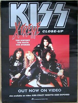 KISS XTreme Close Up Official Promo Poster Australia 1993 REVENGE PolyGram Video • 19.99£