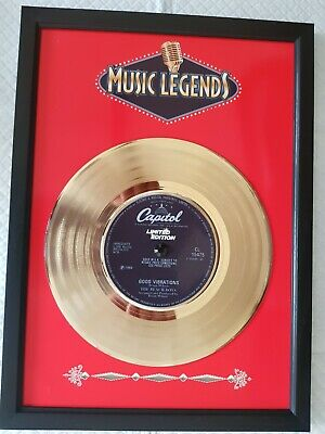 THE BEACH BOYS Gold Plated 7 Inch Vinyl Presentation Disc In Frame, Great Gift! • 24.99£