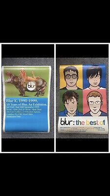 SUPER RARE Blur X Exhibition Poster + 10 Years Best Of Poster Bundle Britpop • 50£