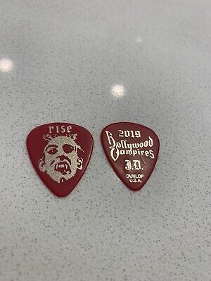 Hollywood Vampires - SUPER Rare Johnny Depp RISE Red X Gold Pick From 2019 HTF • 36.82£