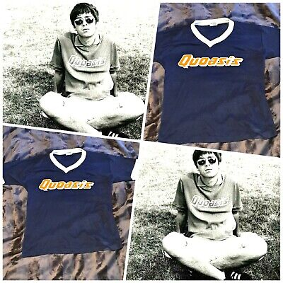 Super Rare 1995 Oasis  Quoasis  Tshirt Liam Gallagher Noel Gallagher OASIS  • 130£