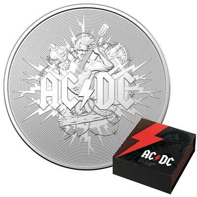 AC/DC – 2021 Australia 1oz Silver Frosted Uncirculated Coin • 70£