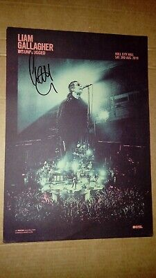 Liam Gallagher Mtv Unplugged Uk Exclusive Cd & Signed A4 Poster In Hand • 12.50£