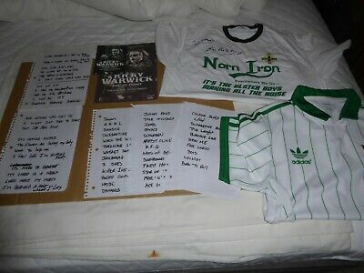 Thin Lizzy/bsr Ricky Warwick Signed + Hand Written Set List And Shirts 23/12/15 • 100£