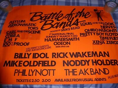 Thin Lizzy Battle Of The Bands 35  X 23  Good Condition • 25£