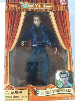 NSNYC JUSTIN TIMBERLAKE  DOLL-Collectable Marionette By Living Toyz 2000 • 15£