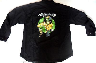 MOTLEY CRUE  Black Shirt, With Motley Crue Embroidered Logo Front And Back,Large • 44.99£