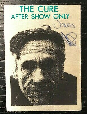 The Cure - Satin Backstage After Show Pass - Jones Beach - 7/7/1986 - Unpeeled • 7.50£