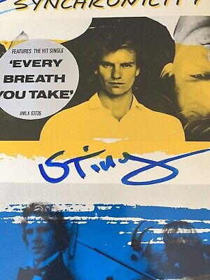 Rare, Signed, Police Synchronicity Album Marked Property Of A&M Collectable  • 35.99£