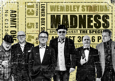 Novelty Vintage Ticket  Madness  Metal Poster Metal Sign Xmas Birthday Gift • 7.99£