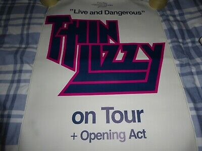 Thin Lizzy Live & Dangerous German 33  X 23  Good Condition Poster  • 50£
