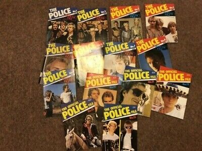 THE POLICE OFFICIAL FILE No1 To No 13 Inclusive Plus No 15 - VGC • 16.90£