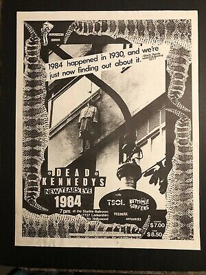 Large Vintage Concert Poster DEAD KENNEDYS TSOL BUTTHOLE SURFERS '84 Hollywood  • 30.02£