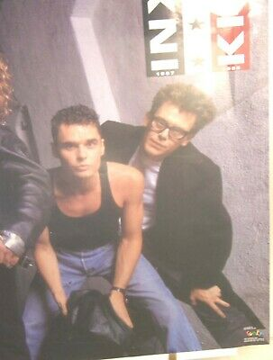 VINTAGE 1987 INXS KICK WORLD TOUR PROMO POSTER 22  By 35  HORIZONTAL FULL COLOR • 20.02£